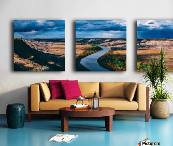 Orkney Fall 2018 Panorama 3x1 Split Canvas print
