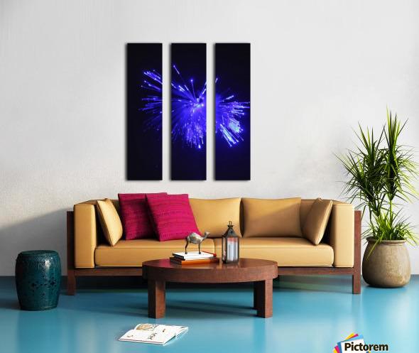 Blue Sparkle Split Canvas print