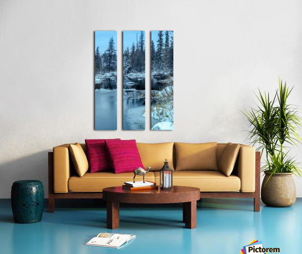 River and snow Split Canvas print