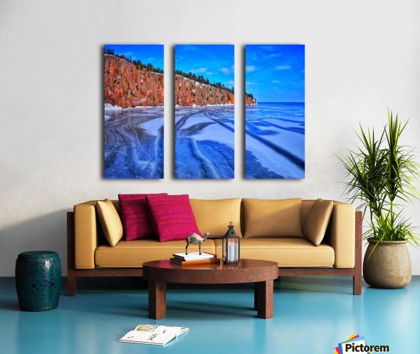 Frozen Shovel Point Split Canvas print