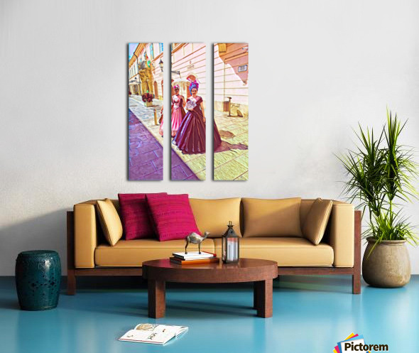Purple Baroque Split Canvas print