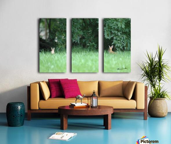 Bunnies Two Split Canvas print