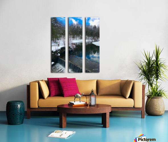 SimsburyFalls Split Canvas print