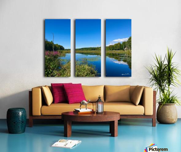 WarrenPond Split Canvas print