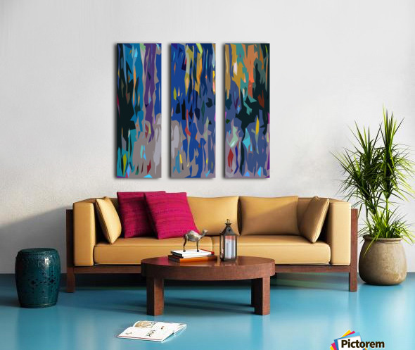 Abstract Composition 726 Split Canvas print