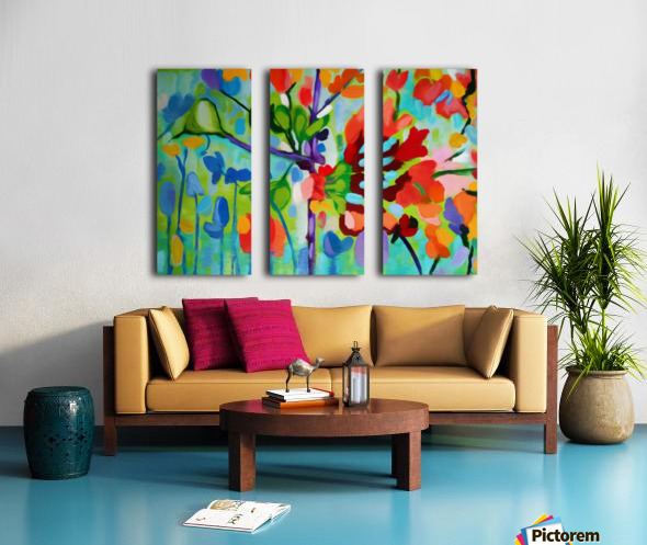Floral 2 Split Canvas print
