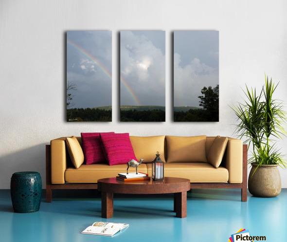 Rainbow Ridge Split Canvas print