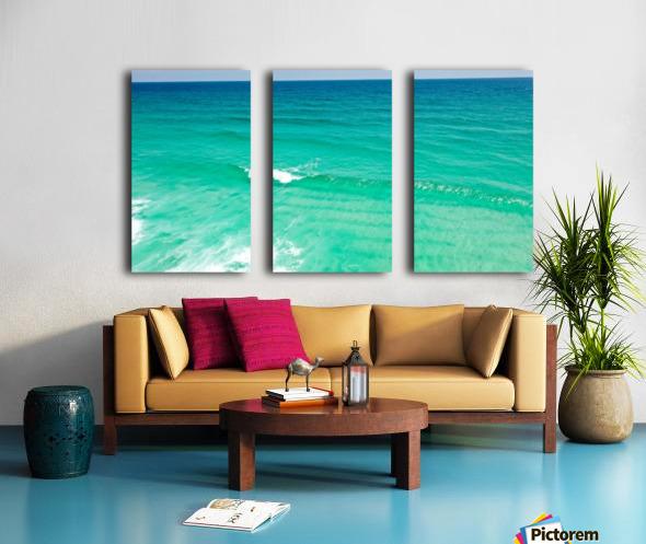 Clear Surf  Split Canvas print