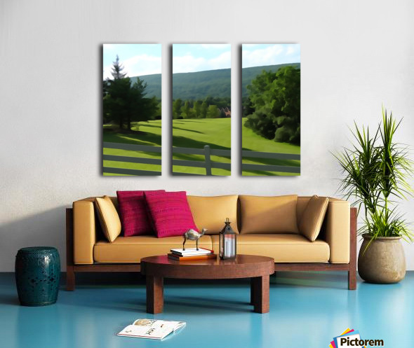 House on the Hill Split Canvas print