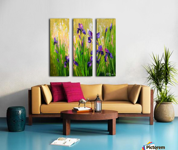 Irises Split Canvas print
