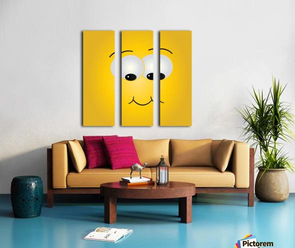Smiling Puffy  Split Canvas print