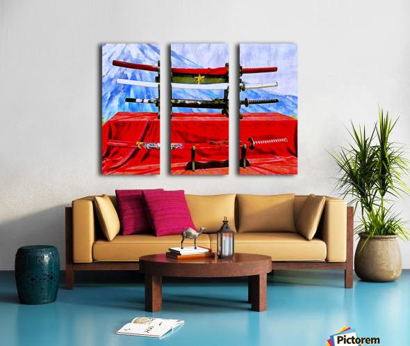 Japanese Sword Display Split Canvas print
