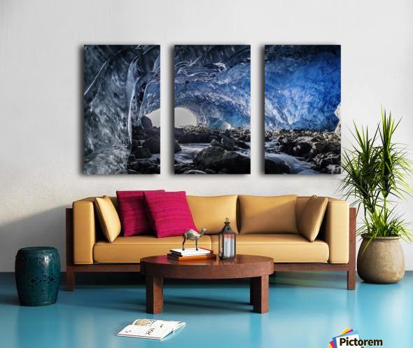Whistler ice cave Split Canvas print