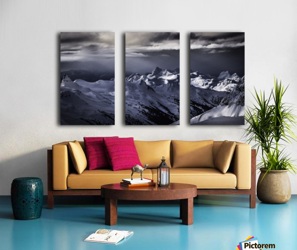 Mountain moods Whistler BC Back-country  Split Canvas print
