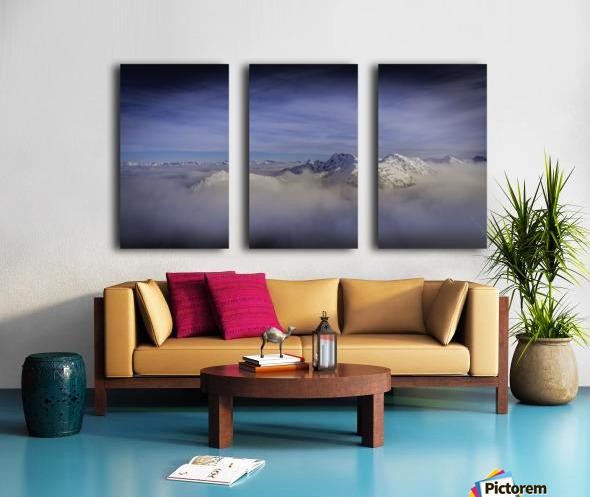 Alpine inversion Kootenay Back country  Split Canvas print