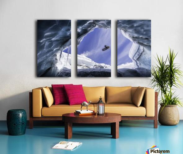 Crevasse Jump Split Canvas print