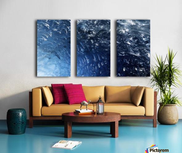 Glacier ICE formation  Split Canvas print