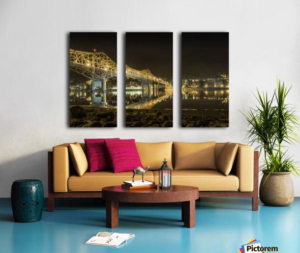 Cold refection under the B.O.B Nelson BC Split Canvas print