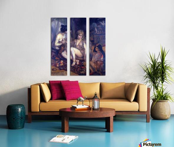 Algerian in Paris dress by Renoir Split Canvas print