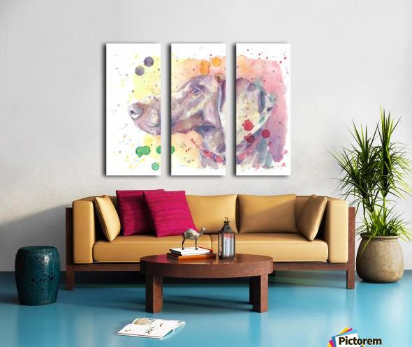 Weimaraner Dog - Portrait of Nandi Split Canvas print
