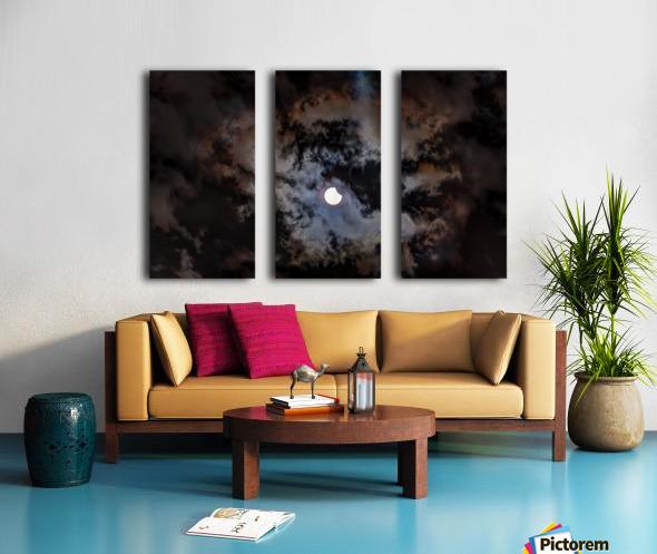 2017 Eclispe Split Canvas print