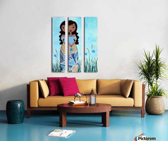 Wish Girl Split Canvas print