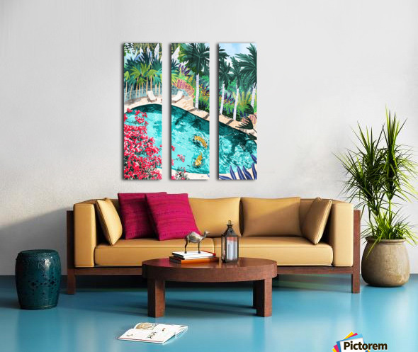 Luxury Villa Split Canvas print