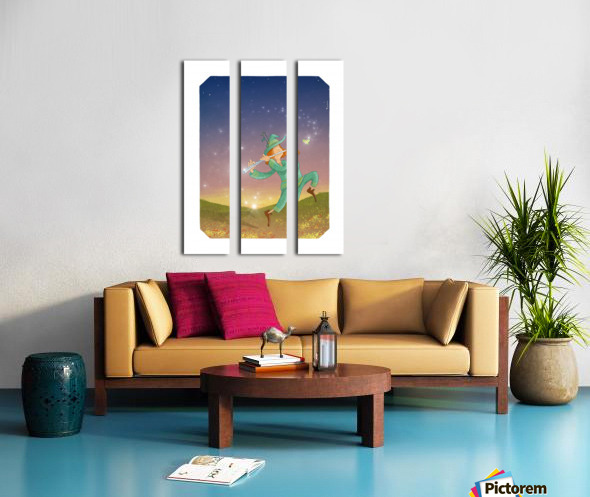 The Dazzling Flutist Split Canvas print