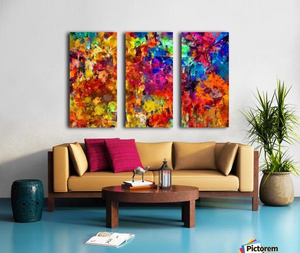 Autumn Leaves Abstract  Split Canvas print