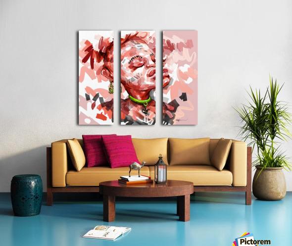 NEVER FORGET Split Canvas print