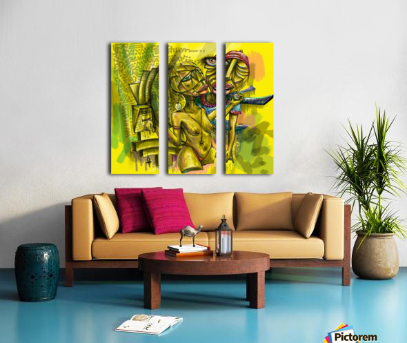 SACRIFICE FOR LOVE Split Canvas print