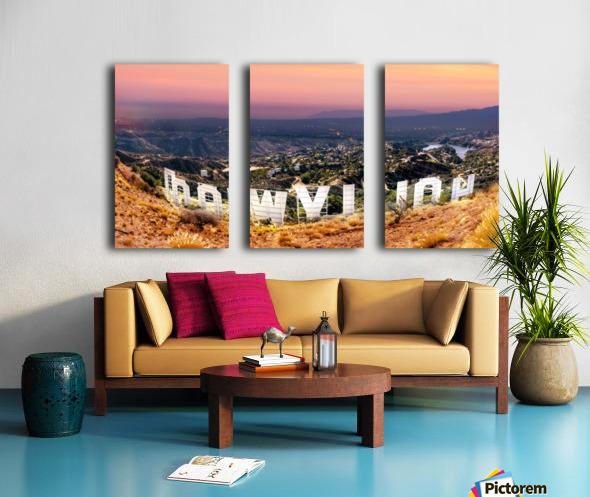 hollywood_DSC1343 Pano3 Split Canvas print
