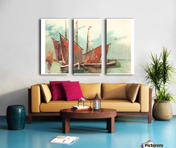 Greeting card Sailing boats Split Canvas print