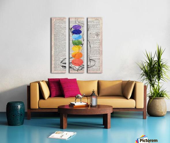 Potential Energy Chakras Colors Split Canvas print
