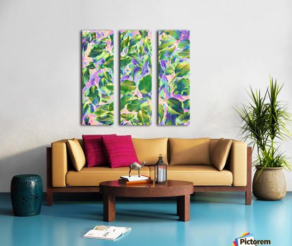 Happy Leaves Split Canvas print
