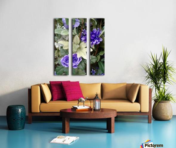 Blue flowers Split Canvas print