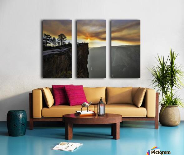 conquered Split Canvas print