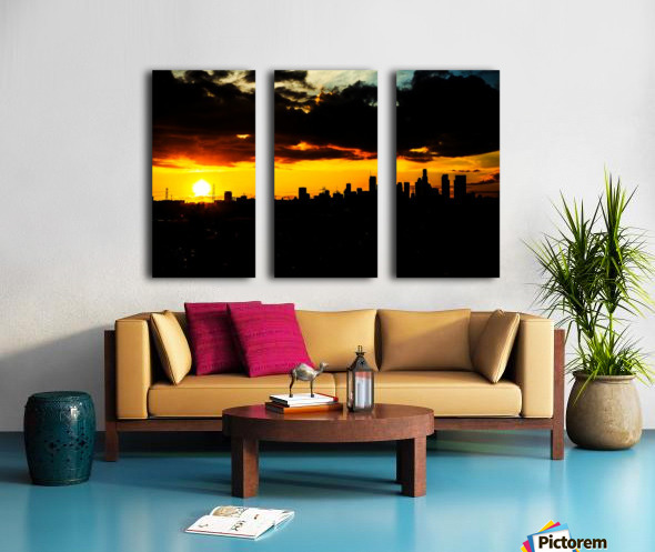 LA On fire Split Canvas print