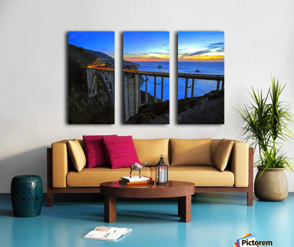 Bixby Blues Split Canvas print