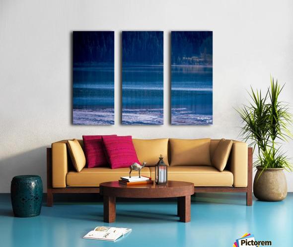 Rocky Mountains Deep Blue Split Canvas print