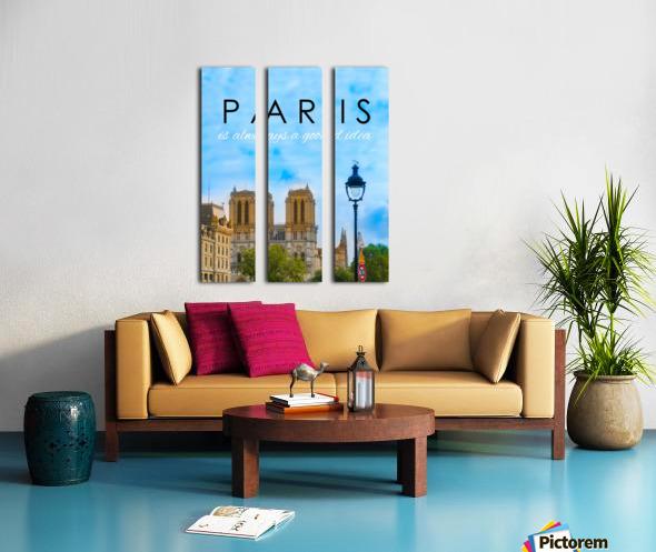 Paris...is always a good idea Split Canvas print