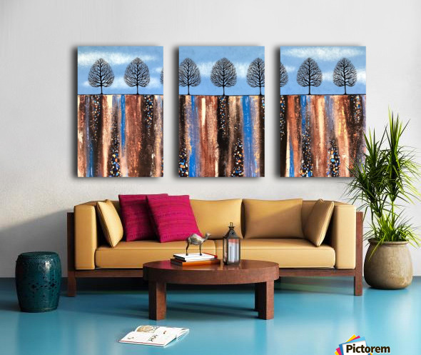 Trees Of Winter Split Canvas print