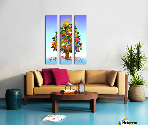 Joy of Christmas Split Canvas print
