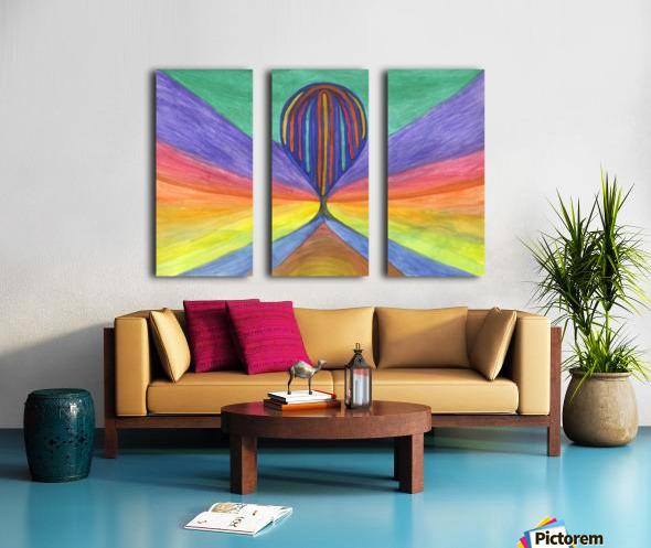 Abstraction flight Split Canvas print