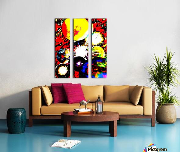 Clash of Worlds Split Canvas print