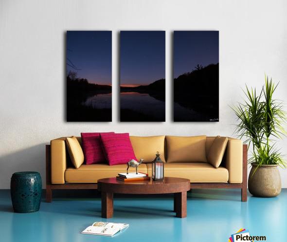 Starlit Pond Split Canvas print