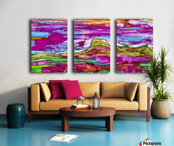 Chief Mountain Sunset  Split Canvas print