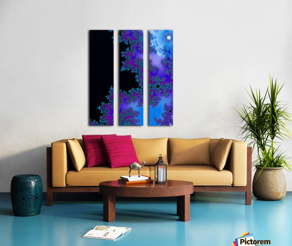 Moonlight  In The Forest Flowers 2  Split Canvas print