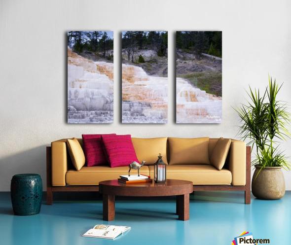 Yellowstone Lower Terrace Split Canvas print