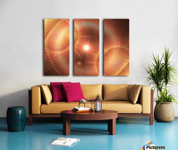 Sun Storm 1 Split Canvas print